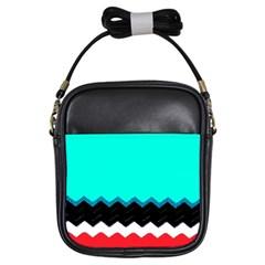 Pattern Digital Painting Lines Art Girls Sling Bags