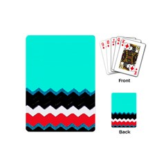 Pattern Digital Painting Lines Art Playing Cards (mini)
