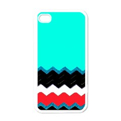 Pattern Digital Painting Lines Art Apple Iphone 4 Case (white)