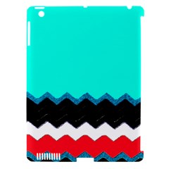 Pattern Digital Painting Lines Art Apple Ipad 3/4 Hardshell Case (compatible With Smart Cover)