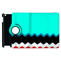 Pattern Digital Painting Lines Art Apple Ipad 2 Flip 360 Case