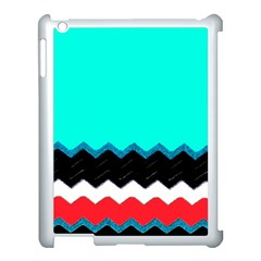 Pattern Digital Painting Lines Art Apple Ipad 3/4 Case (white)