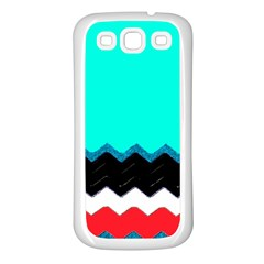 Pattern Digital Painting Lines Art Samsung Galaxy S3 Back Case (white)