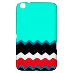 Pattern Digital Painting Lines Art Samsung Galaxy Tab 3 (8 ) T3100 Hardshell Case
