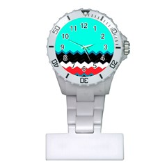 Pattern Digital Painting Lines Art Plastic Nurses Watch