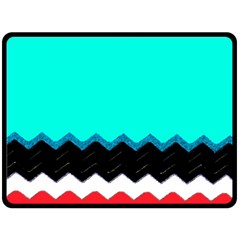 Pattern Digital Painting Lines Art Double Sided Fleece Blanket (large)