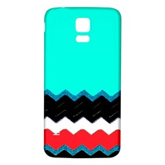 Pattern Digital Painting Lines Art Samsung Galaxy S5 Back Case (white)