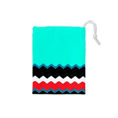 Pattern Digital Painting Lines Art Drawstring Pouches (Small)