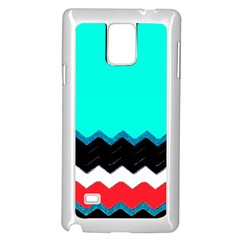Pattern Digital Painting Lines Art Samsung Galaxy Note 4 Case (White)