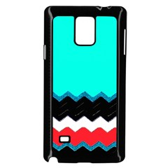 Pattern Digital Painting Lines Art Samsung Galaxy Note 4 Case (Black)