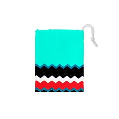 Pattern Digital Painting Lines Art Drawstring Pouches (XS)