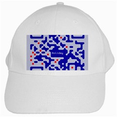 Digital Computer Graphic Qr Code Is Encrypted With The Inscription White Cap