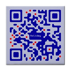 Digital Computer Graphic Qr Code Is Encrypted With The Inscription Tile Coasters