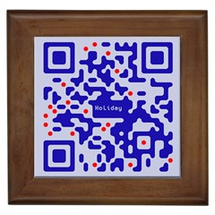 Digital Computer Graphic Qr Code Is Encrypted With The Inscription Framed Tiles