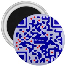 Digital Computer Graphic Qr Code Is Encrypted With The Inscription 3  Magnets