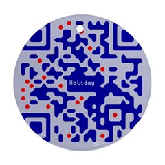 Digital Computer Graphic Qr Code Is Encrypted With The Inscription Ornament (round)