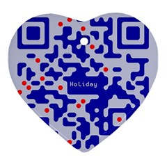 Digital Computer Graphic Qr Code Is Encrypted With The Inscription Ornament (heart)