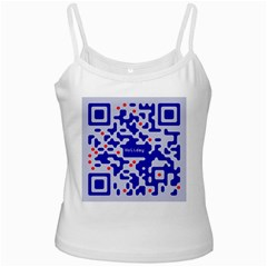 Digital Computer Graphic Qr Code Is Encrypted With The Inscription White Spaghetti Tank