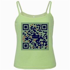 Digital Computer Graphic Qr Code Is Encrypted With The Inscription Green Spaghetti Tank