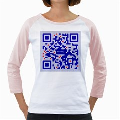 Digital Computer Graphic Qr Code Is Encrypted With The Inscription Girly Raglans