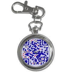 Digital Computer Graphic Qr Code Is Encrypted With The Inscription Key Chain Watches