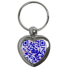 Digital Computer Graphic Qr Code Is Encrypted With The Inscription Key Chains (heart)