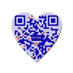 Digital Computer Graphic Qr Code Is Encrypted With The Inscription Heart Magnet