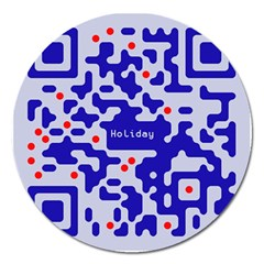 Digital Computer Graphic Qr Code Is Encrypted With The Inscription Magnet 5  (round)
