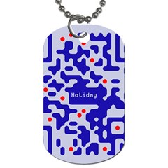 Digital Computer Graphic Qr Code Is Encrypted With The Inscription Dog Tag (One Side)