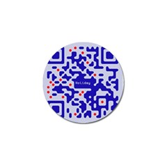 Digital Computer Graphic Qr Code Is Encrypted With The Inscription Golf Ball Marker