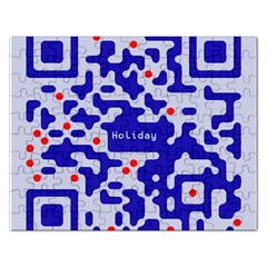 Digital Computer Graphic Qr Code Is Encrypted With The Inscription Rectangular Jigsaw Puzzl
