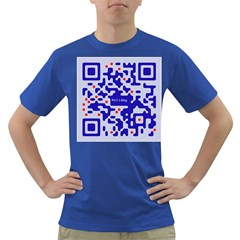 Digital Computer Graphic Qr Code Is Encrypted With The Inscription Dark T Shirt