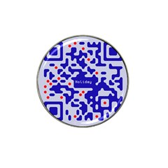 Digital Computer Graphic Qr Code Is Encrypted With The Inscription Hat Clip Ball Marker (4 Pack)