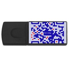 Digital Computer Graphic Qr Code Is Encrypted With The Inscription USB Flash Drive Rectangular (4 GB)