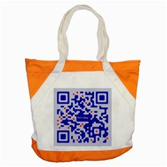 Digital Computer Graphic Qr Code Is Encrypted With The Inscription Accent Tote Bag