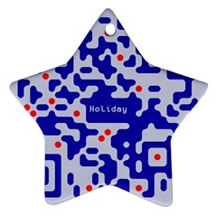 Digital Computer Graphic Qr Code Is Encrypted With The Inscription Star Ornament (Two Sides)