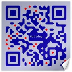 Digital Computer Graphic Qr Code Is Encrypted With The Inscription Canvas 12  X 12