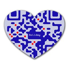 Digital Computer Graphic Qr Code Is Encrypted With The Inscription Heart Mousepads
