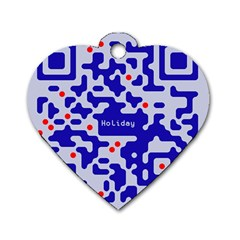 Digital Computer Graphic Qr Code Is Encrypted With The Inscription Dog Tag Heart (one Side)