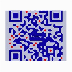 Digital Computer Graphic Qr Code Is Encrypted With The Inscription Small Glasses Cloth (2 Side)
