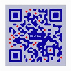 Digital Computer Graphic Qr Code Is Encrypted With The Inscription Medium Glasses Cloth (2 Side)