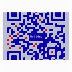 Digital Computer Graphic Qr Code Is Encrypted With The Inscription Large Glasses Cloth