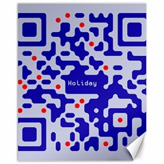 Digital Computer Graphic Qr Code Is Encrypted With The Inscription Canvas 11  X 14