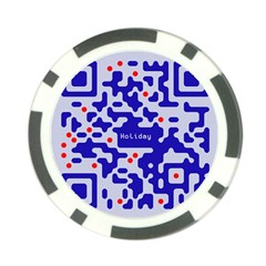 Digital Computer Graphic Qr Code Is Encrypted With The Inscription Poker Chip Card Guard (10 Pack)