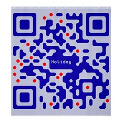 Digital Computer Graphic Qr Code Is Encrypted With The Inscription Shower Curtain 66  X 72  (large)