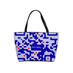 Digital Computer Graphic Qr Code Is Encrypted With The Inscription Shoulder Handbags