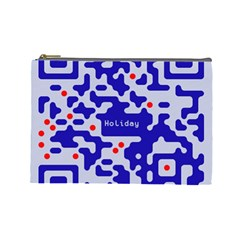 Digital Computer Graphic Qr Code Is Encrypted With The Inscription Cosmetic Bag (large)