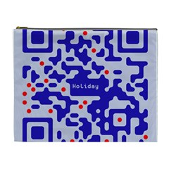 Digital Computer Graphic Qr Code Is Encrypted With The Inscription Cosmetic Bag (xl)