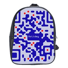 Digital Computer Graphic Qr Code Is Encrypted With The Inscription School Bags(large)