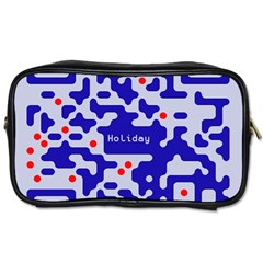 Digital Computer Graphic Qr Code Is Encrypted With The Inscription Toiletries Bags 2-Side
